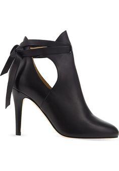 JIMMY CHOO - Marina 90 leather heeled ankle boots | Selfridges.com