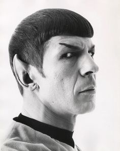 "Leonard Nimoy, in makeup as Mr Spock on ""Star Trek"" (1966-1969)."