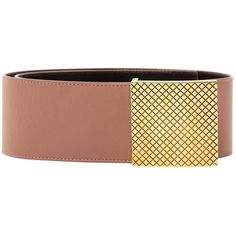 Pre-owned Bottega Veneta Leather Belt ($205) ❤ liked on Polyvore featuring accessories, belts, brown, bottega veneta, brown leather belt, brown belt, bottega veneta belt and leather belt