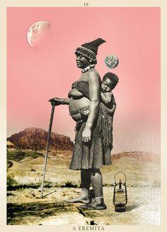 A EREMITA  - TAROT #tarot #collage #thehermit #hermitetarot