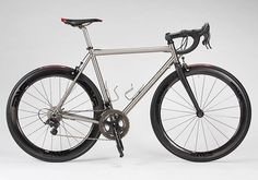 "Titanium Road // Campagnolo Super Record // 1 1/8"" head tube // caliper brakes // threaded bottom bracket // #modernclassic"