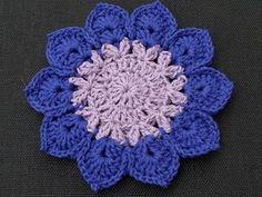 Gorgeous Blue & purple crochet flower