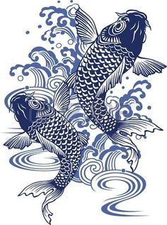 Japanese Embroidery Fish Art Print: Japanese Carp by daicokusann : - size: Art Print: Japanese Carp by daicokusann : Japanese Drawings, Japanese Koi, Japanese Prints, Japanese Sleeve, Japanese Waves, Koi Art, Fish Art, Japanese Embroidery, Embroidery Art
