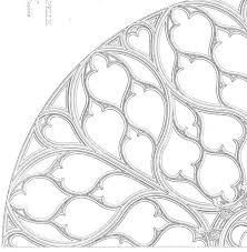 Rose window -architectural drawings paris -
