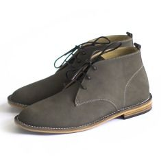 Desert charcoal leather boots