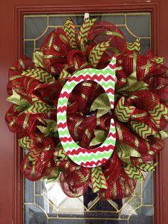 Christmas wreath on Etsy, $50.00