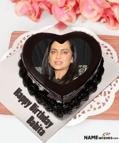 Birthdays are really important especially when it comes of someone special. So Let her wish with this Chocolate Heart cake with Name and photo on it.