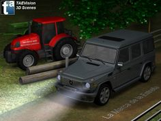 014/278 - #3D TAEVision #mechanical #design #Automotive #Agriculture #Farm #Farms #Farming #MercedesBenz #GClass #GWagon #G500 #OffRoad #Tractor #RuralRoad #CountryRoad Dream Night, Mercedes Benz G Class, G Wagon, Agriculture, Offroad, Tractors, 3 D, Engineering, Country Roads
