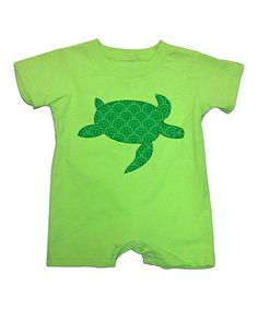 Look what I found on #zulily! Green Turtle Romper - Infant #zulilyfinds