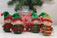 Kreamojza horgolt világa: A jó, a huncut és a szép... Crochet Christmas Ornaments, Christmas Crochet Patterns, Christmas Toys, Christmas Knitting, Crochet Patterns Amigurumi, Amigurumi Doll, Christmas Snowman, Crochet Toys, Christmas Decorations