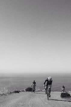 Riding in the headlands.