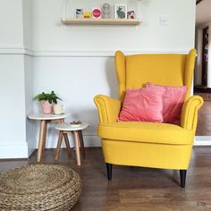FURNITURE: We like Strandmon. This pic looks very cozy too.                                                                                                                                                                                 More