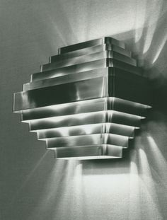 Jules Wabbes, wall lamp, 1968.