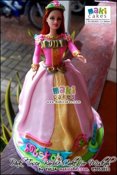 Pink Tosca Barbie Cake for Miskah - Maki Cakes by *Yulia*, via Flickr