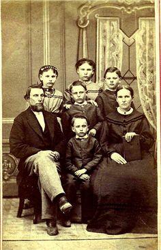 John Vliet Giles (1805-68) and family, about 1855, Sullivan, Indiiana