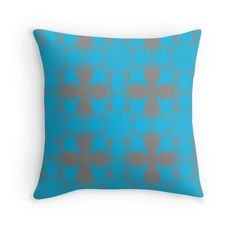 Morocco - Blue - Throw Pillow Cover - http://annumar.com/en/designs/morocco-blue-throw-pillow-cover