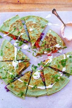 rainbow quesadillas Veggie Quesadilla, Quesadilla Recipes, Quesadillas, Colorful Vegetables, Raw Vegetables, Food Insecurity, Healthy Mexican Rice, Healthy Mexican Casserole, Meatless Recipes