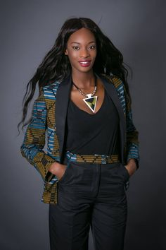Latest Trendy Ankara Jackets And Blazers Styles African Fashion Ankara, African Inspired Fashion, African Print Fashion, Africa Fashion, Ethnic Fashion, African Print Pants, African Print Dresses, African Dress, African Tops