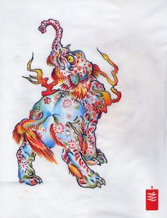 Baku, Japanese tattoo, dream eater
