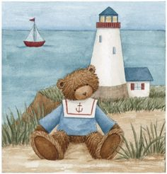 Shop Father is Guiding Light - Greeting Card created by Zazzlemm_Cards. Tatty Teddy, Teddy Bear Hug, Teddy Bears, Decoupage, Bear Pictures, Cute Pictures, Bear Clipart, Sweet Drawings, Bear Paintings