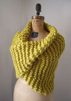 citrine chunky knit cowl via Etsy.