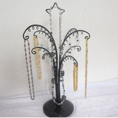 Free Shipping Acrylic Tree Necklace Earring Jewelry Display Organizer Stand Holder Clear/Black-in Cases & Displays from Jewelry on Aliexpres...