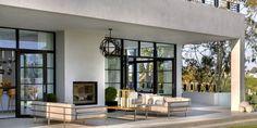 20 Patio Decor Ideas for Lazing Al Fresco This Summer Indoor Outdoor Fireplaces, Outdoor Fireplace Designs, Indoor Outdoor Living, Outdoor Rooms, Outdoor Patios, Backyard Fireplace, Outdoor Life, Backyard Patio, Garden Room Extensions