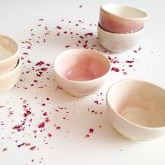 They fit perfectly in your hand--one of a kind porcelain #teacups by #clamlab for #leafandardor tea co.