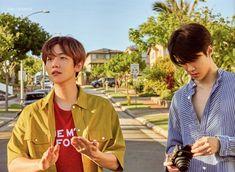 Baekhyun, Sehun - 190912 Fourth official photobook 'PRESENT ; the moment' Credit: Glitter Baek. Baekhyun, Exo Chanyeol, Z Cam, Exo Korean, Kim Junmyeon, Exo Members, Chanbaek, Boy Bands, Boy Groups