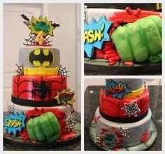 Kelli's Kakez: Superhero Cake