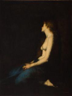 Madeleine au désert, Jean Jacques Henner, 1878, JPEG - 43.3 ko