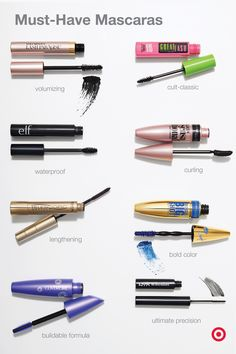 Whether you're a fan of major volume or lash-by-lash definition, your perfect mascara is out there—you just have to find it. Things to keep in mind? Brush & formula. For definition, pick a spiral brush. For luxurious length, choose super-short bristles. For full & fluffy lashes, grab a dense brush. To highlight your eye color, try a blue formula. Need all-day-wear? Waterproof formula. Whatever you need, we've got it—here are some bestsellers & cult-classics to get you started.