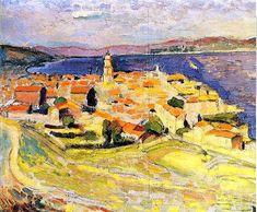 """""""Saint-Tropez View"""", by Henri Matisse, Henri Matisse, Matisse Art, Saint Tropez, Van Gogh, Landscape Art, Landscape Paintings, Landscapes, Pablo Picasso, Matisse Paintings"""