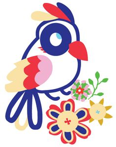 Bird Vector Graphic for Embroidery