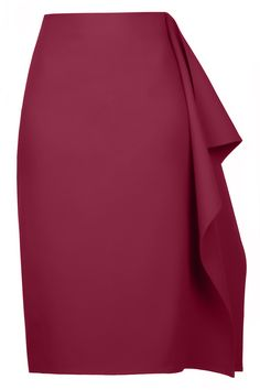 Wine Tulip Skirt