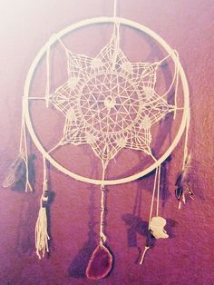 A different spin on a traditional dreamcatcher using items that can easily be thrifted