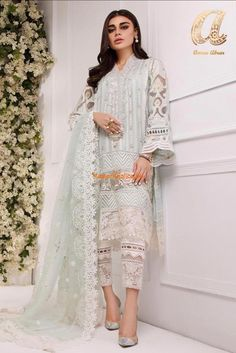 Beautiful ANNUS ABRAR Chiffon Party Wear Master Replica 2019 - Beautiful ANNUS ABRAR Chiffon Party Wear Master Replica 2019 A dreamy confection of color and embroidery, this Master Replica from the La Beautiful Pakistani Dresses, Pakistani Formal Dresses, Pakistani Fashion Party Wear, Pakistani Dress Design, Pakistani Outfits, Pakistani Clothing, Pakistani Clothes Casual, Pakistani Designer Clothes, Eid Outfits