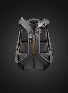 Product design: bag, backpack, Cutting Edge PlayBack on Behance Designer Backpacks, Cool Backpacks, Design Reference, Tactical Gear, Backpack Bags, Black Backpack, Industrial Design, Cool Stuff, Stuff To Buy