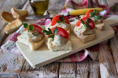 Crostini con crema al tonno e patate