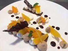 L'Agape en Avignon, Sablé Cacao, Mousse Légère Chocolat, Orange et Suprêmes d'Agrumes