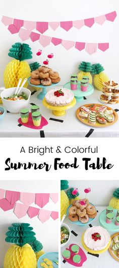 Summers are for celebrations and what is better than a colorful summer craft party with a bunch of close friends, delicious food, DIY projects and decor? Tropical Party, Summer Crafts, Craft Party, Luau, Summer Recipes, Party Time, Buffet, Birthday Parties, Diy Projects