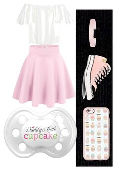 """cupcake"" by nitika-nicole-walnoha ❤ liked on Polyvore featuring Calvin Klein, Casetify, Valentino, Converse and Humble Chic"