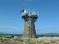 BARREL of BUTTER lighthouse Located on a rock in the north-west corner of Scapa Flow Orkney islands Scotland