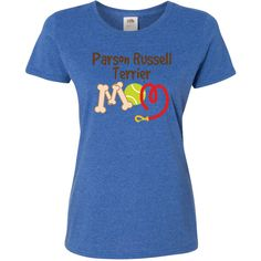 Parson Russell Terrier Dog Mom Women's T-Shirt Retro Heather Royal $20.99 www.cutepetshirts.com