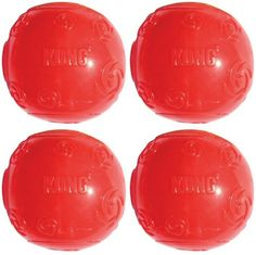 KONG Squeezz Ball Medium Assorted Colors Green, Red, Blue, Purple 4pk *** To view further, visit now : Dog Toys