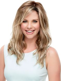 Rachel by Jon Renau is a lace front monofilament wig with with soft wavy layers. As part of the SmartLace wig collection, Rachel offers a thin transparent lace strip at the front of the cap that mimics your own hairline.