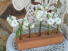 SET OF 6 Rustic Wedding CENTERPIECES Decoration Chic Wedding Flower Vase  Reclaimed Wood t Barn wood Farm Reception. $250.00, via Etsy.