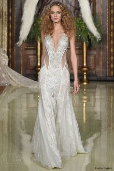 Galia Lahav Spring 2016...Beautiful, I see leather. What a way to make a 'modern' bridal statement.Take 1-3 details & design your unique wedding dress.