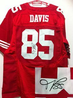 a54e64ec6 NFL San Francisco 49ers 85  Vernon Davis Red Autographed Jersey Nfl 49ers