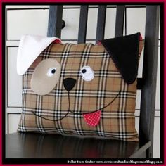 Dollar Store Crafter: How To Sew A Cute Dog Pillow